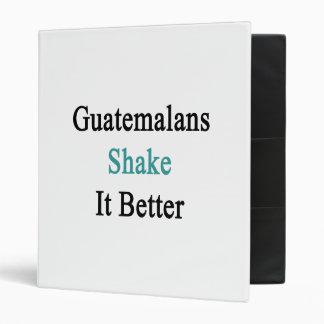 Guatemalans Shake It Better 3 Ring Binder