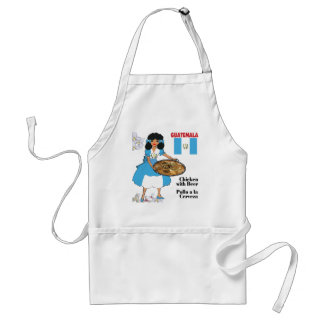 Guatemala's Cuisine Aprons-Chicken with Beer Adult Apron