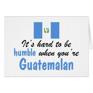 Guatemalteco humilde tarjeton