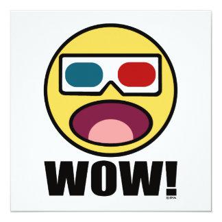 """¡Guau! 3D Invitación 5.25"""" X 5.25"""""""