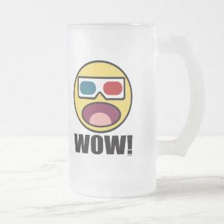 ¡Guau! 3D Taza De Cristal