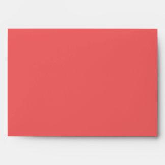 Guava Colored 5x7 Envelope