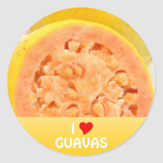 Guava fruits classic round sticker