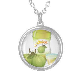 Guava juice round pendant necklace