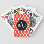 "Guava Monogrammed Barcelona Print Bicycle Playing Cards<br><div class=""desc"">Guava Monogrammed Barcelona Print</div>"