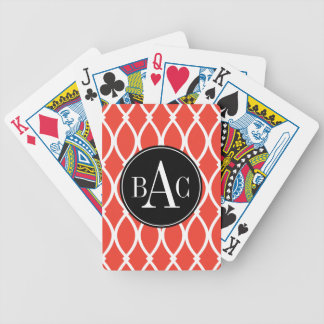 Guava Monogrammed Barcelona Print Bicycle Playing Cards