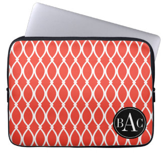 Guava Monogrammed Barcelona Print Laptop Sleeve