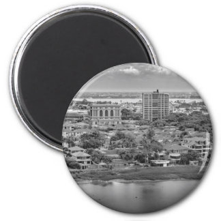 Guayaquil Aerial View from Window Plane Magnet