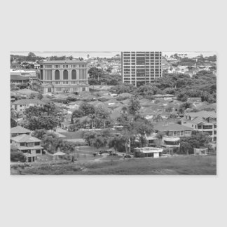 Guayaquil Aerial View from Window Plane Rectangular Sticker