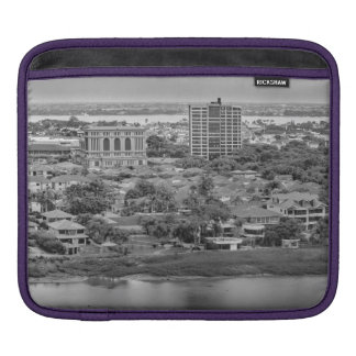 Guayaquil Aerial View from Window Plane Sleeve For iPads