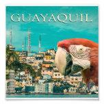 Guayaquil Touristic Postal Design Photo Print