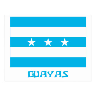 Guayas flag with Name Postcard