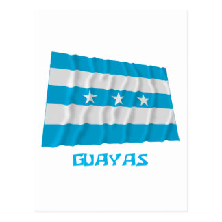 Guayas waving flag with Name Postcard