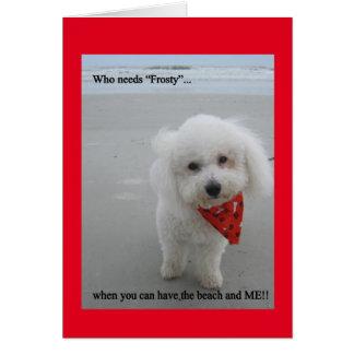 Gucci en la playa - tarjeta de felicitación