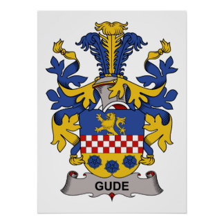 Gude Family Crest Poster