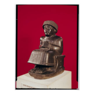 Gudea, Prince of Lagash, dedicated to Poster