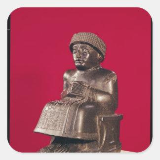 Gudea, príncipe de Lagash, dedicó a Pegatina Cuadrada
