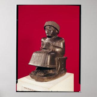 Gudea, príncipe de Lagash, dedicó a Póster
