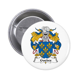 Guedes Family Crest Pinback Buttons