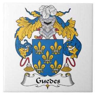Guedes Family Crest Ceramic Tile