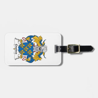 Guedes Family Crest Travel Bag Tag