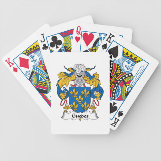 Guedes Family Crest Bicycle Poker Deck