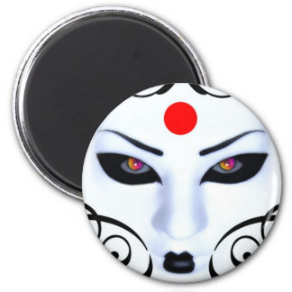 gueisha design 2 inch round magnet