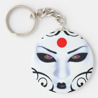 gueisha design basic round button keychain