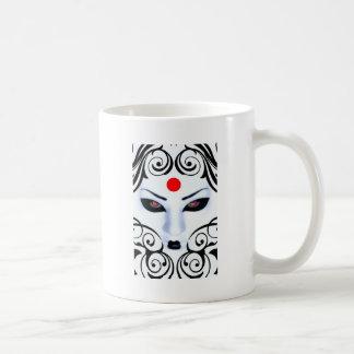 gueisha design classic white coffee mug