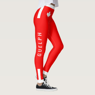 GUELPH Trainer Canadian Maple on Red (cust) Leggings