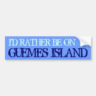 Guemes Island Bumper Sticker Car Bumper Sticker