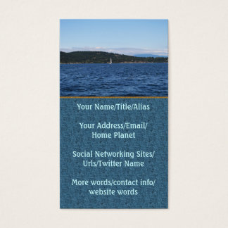 Guemes Island Ferry Business Card