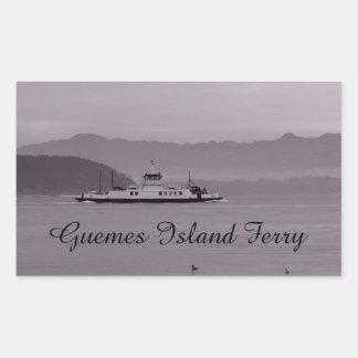 Guemes Island Ferry Rectangular Sticker