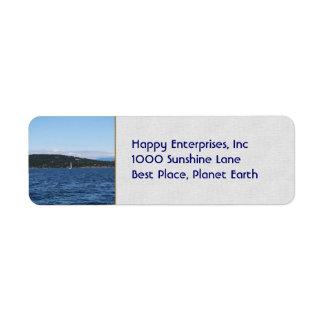 Guemes Island Ferry Return Address Label