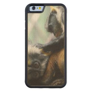 Guenon del lobo funda de iPhone 6 bumper arce