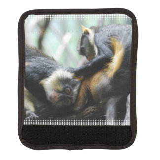 Guenon del lobo cobertura para asa de maleta