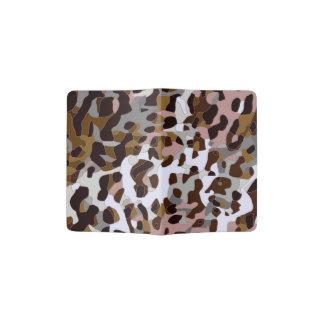 Guepardo abstracto gris negro de Brown Porta Pasaporte