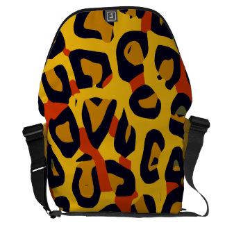 Guepardo amarillo-naranja fluorescente del vector bolsas de mensajeria