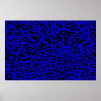 guepardo azul póster