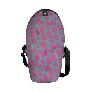 Guepardo azul rosado bolsas messenger