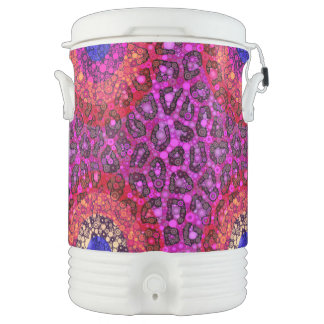 Guepardo azul rosado púrpura refrigerador de bebida igloo