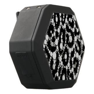 Guepardo blanco negro de Bling Altavoces Bluetooth Negros Boombot REX