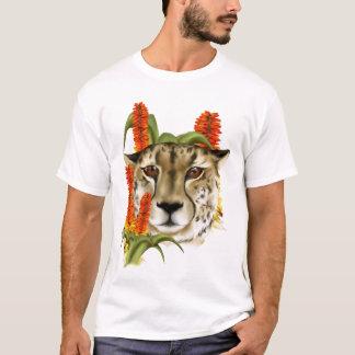 Guepardo con la camiseta del áloe