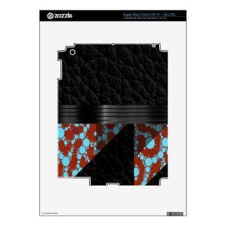 Guepardo de Borgoña de la turquesa iPad 3 Pegatina Skin