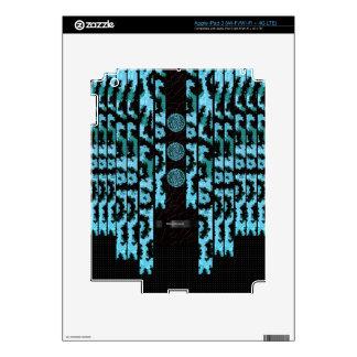Guepardo de lujo de la turquesa pegatinas skins para iPad 3