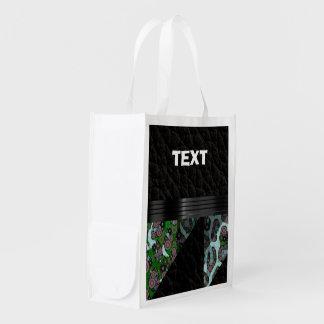 Guepardo del verde azul bolsa para la compra