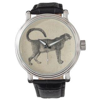 Guepardo del vintage reloj