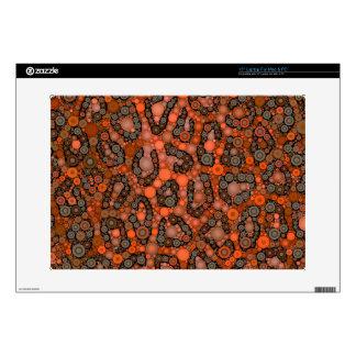 Guepardo gris anaranjado fluorescente portátil calcomanías