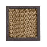 Guepardo-impresión-animal-piel del personalizado d caja de regalo de calidad