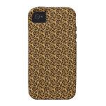 Guepardo-impresión-animal-piel del personalizado d iPhone 4 funda